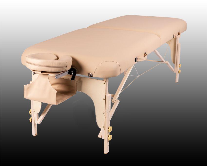 Массажный стол TOR - дерево (бук), 2 секции, люкс